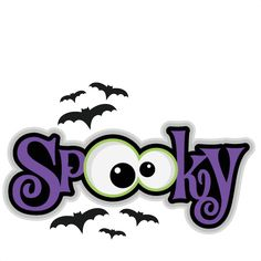 Spooky SVG scrapbook title SVG cutting files bat svg cut file halloween cute files for cricut cute cut files free svgs