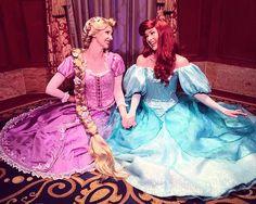 Besties Ariel and Rapunzel
