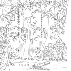 Amazon.com: Magical Jungle: An Inky Expedition and Coloring Book for Adults (9780143109006): Johanna Basford: Books