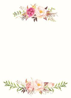 Pin on fundo para convite de casamento. This Pin was discovered by Ana Paula.) your own Pins on Convites de Noivado Flower Backgrounds, Flower Wallpaper, Wallpaper Backgrounds, Iphone Wallpaper, Watercolor Logo, Watercolor Flowers, Watercolor Invitations, Floral Invitation, Wedding Cards