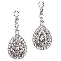 Antiqued Simulated Pearl Teardrop Filigree Dangle Earrings silvertone Heirloom Finds http://smile.amazon.com/dp/B00G0XVDZ2/ref=cm_sw_r_pi_dp_-fBMwb12ZVQJZ