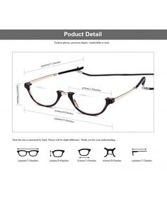 4eb9d5b5fad Iambcoolin.com  Agstum Mens Womens Half Moon Foldable Reading Glasses with  Case (Tortoise