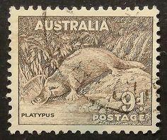 4648 - Framed Postage Postage Stamp Art - Platypus -2 - Australia - Marine animal $13.90