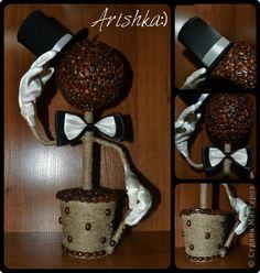 Бонсай топиарий День рождения Кофейный джентельмен   подарок на юбилей директору Кофе фото 1