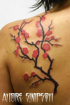 cherry blossom shoulder tattoo by erasotron on deviantart zuuunwsz Cherry Blossom Shoulder Tattoo Cover Up Tattoos, Foot Tattoos, Flower Tattoos, Tatoos, Ribbon Tattoos, Girl Tattoos, Shoulder Tattoos For Women, Tattoos For Women Small, Small Tattoos