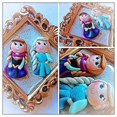 Frozen Sisters Inspired Polymer clay by NoahsClay on Etsy, $6.50