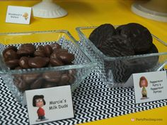 Marcie Milk Duds, Peppermint Patty Peppermint Patties   - The Peanuts Movie Party by PartyPinching.com