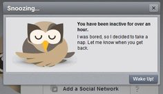 Hootsuite is a social media management system.  This is one of their messages creating a friendly, personal tone of voice.