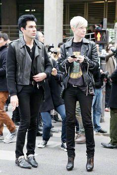 Kate Lanphear, leather, monochrome, all black