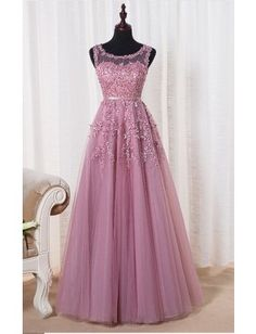 Cheap robe de soiree, Buy Quality evening dress directly from China long evening dress Suppliers: SOCCI Weekend Pink Appliques Lace Tulle Long Evening Dresses 2017 Formal Wedding Party Dress robe de soiree Bride Reception gown Pink Prom Dresses, A Line Prom Dresses, Tulle Prom Dress, Prom Dresses Online, Cheap Prom Dresses, Modest Dresses, Wedding Party Dresses, Homecoming Dresses, Evening Dresses