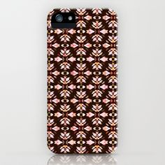 Country Pink On Brown iPhone & iPod Case by lillianhibiscus - $35.00