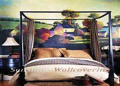 RA0140M Painterly Landscape Chair Rail Wall Mural