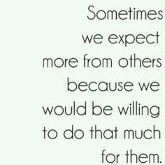 expect more.