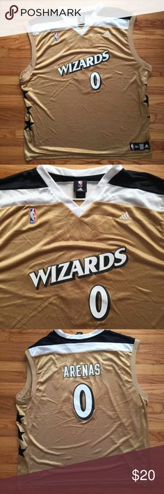 Adidas Wizards Jersey In excellent used condition. Size 3XL but runs small. adidas Shirts Tank Tops
