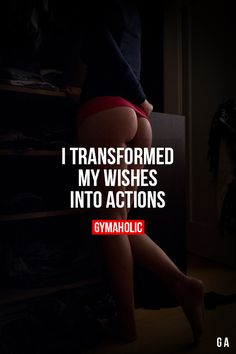 "I Transformed My Wishes Into Actions When you start getting rewards is when you stop making excuses and say ""fuck it, I'm doing"". Fitness Revolution -> http://www.gymaholic.co"