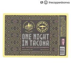 with TOMORROW we will be doing the beer launch of and s collaboration One Night in Tacoma! It is a beautiful brut IPA and we will be serving it with champagne truffles from our good friends at Party starts at we will see you there! Champagne Truffles, Beer Week, How To Make Chocolate, Brewing Co, Ipa, First Night, Craft Beer, Chocolates, Collaboration