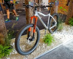 """The Rebel, seen at #eurobike, available for 29ers, but it's also available as a 27.5+ model. It's compatible with tires up to 3.25"""" wide."""
