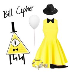 """Bill Cipher"" by ducky-momo-fangirl ❤ liked on Polyvore featuring AQ/AQ, Chloé, BeckSöndergaard, Diamondsy and Estiluz"