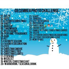 I want to doo a challenge, but don't know which to choose. December Photo Challenge, Challenge Me, Christmas Ecards, Christmas Time, Christmas Ideas, Photography Challenge, Photography Projects, Christmas Card Pictures, Instagram Challenge