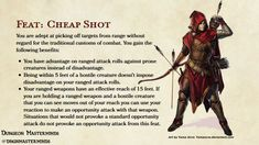 Dungeons And Dragons Rules, Dungeons And Dragons Classes, Dnd Dragons, Dungeons And Dragons Homebrew, Dnd Characters, Fantasy Characters, Dnd Feats, Dnd Stories, Cheap Shot