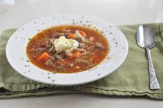 This was really good. I left out the celery and added extra garlic and oregano. paleo vegetable beef soup
