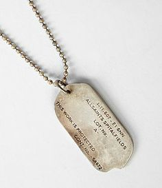 Mens Tag Necklace (Sterling Silver) | ALLSAINTS.com