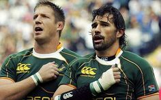 Bakkies Botha & Victor Matfield, the 'Combo' (South Africa) Rugby League, African History, Love At First Sight, Beer Quotes, Football, Baseball Cards, South Africa, Famous People, Sports
