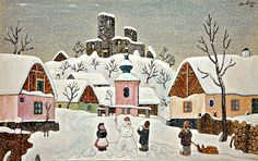 Winter at Hrusice, 1944