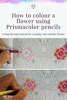 Tutorial: How to colour a flower using Prismacolor pencils - Fox Design Den