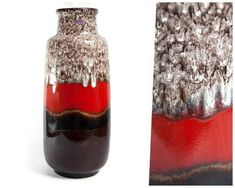 Extra large vase, mid century modern, fat lava vase, floor vase, west german pottery, tall vase, pottery vase, ceramic vase, Scheurich vase