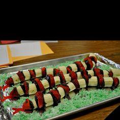 Great idea for a fun preschool snack!                                                                                                                                                     More