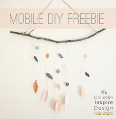 DIY Freebie- Boho Mobile- you can find this freebie and tons of others on at ChildrenInspireDesign.com/blog.  Enjoy!