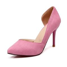 Shoes For Women Stiletto Heel Pointed Toe Pumps Heels Office Career Casual Pink Gray