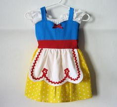 Everyone needs a SNOW WHITE dress APRON dress for toddlers by loverdoversclothing. $38.99, via Etsy.