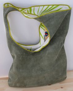 Gamuza de cuero artesanal bolso por KiNGFLY en Etsy