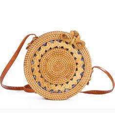 b800bc0428 US $14.53 46% OFF|DUSUN Summer Bali Hand Woven Rattan Bag Embroidery  Shoulder Crossbody Bags Beach Straw Bag Bohemian Knitting Circular  Handbags-in Shoulder ...