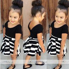 Aliexpress.com: Compre Meninas do bebê verão define preto + roupa saia faixa europa crianças roupas C25 de confiança organizador vestido fornecedores em junhao Co. Ltd.