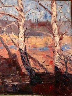 Ewa Witkowska, Birches, oil on canvas, 2007