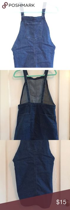 Size L Forever 21 overall dress Size L Forever 21 jean overall dress with front pocket Forever 21 Dresses