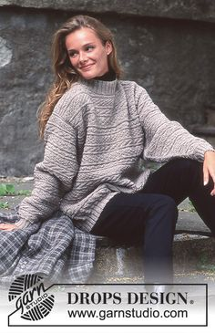 DROPS Unisex sweater in Karisma with texture Free pattern by DROPS Design. Knitting Kits, Sweater Knitting Patterns, Knit Patterns, Free Knitting, Clothing Patterns, Drops Design, Jumpers For Women, Sweaters For Women, Gents Sweater
