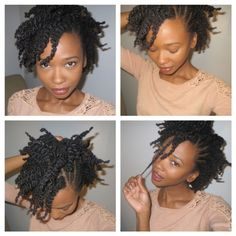 CUTE SIMPLE STYLE...SINCE MY FLAT TWISTS LOOK LIKE GARBAGE, I'D JUST PULL THE SIDE UP WITH A COMB