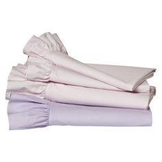 Target Ruffle Sheet set in Pink white/tan/brown/or green $29.99