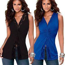 Fashion Summer Women Sleeveless Vest Top Blouse Casual Tank Tops T Shirt Blouse
