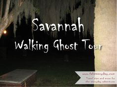 DIY Walking Ghost Tour of Savannah.  Savannah, GA has been called America's most haunted city. Even if you don't believe in this kind of thing, this is a great way to see a beautiful city with amazing homes, beautiful squares, and incredible architecture. Many of the spots on the tour are also all historical spots, so why not check them out at least for the sake of exploring this city's rich and long history?  For travel tips and more for the everyday adventurer, visit www.fabeveryday.com.