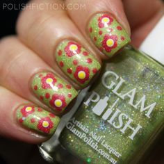 Glam Polish Mystify and some floral nail art