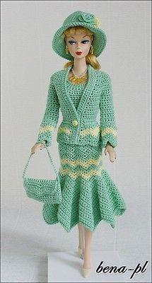 Bena-Pl roupas para Fr Victoire Roux, Silkstone, Barbie Vintage Roupa Sui Generis
