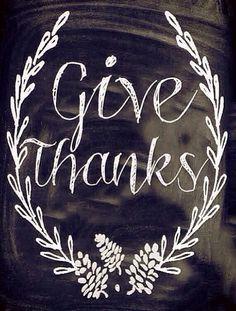 Chalkboard art for Thanksgiving
