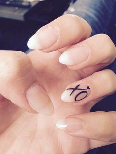Natural stiletto nails xo