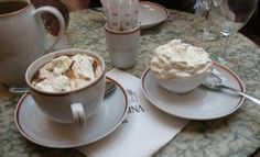 Best hot chocolate in the world!   But you have to go to Paris: Angelina's.