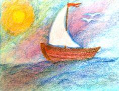 Four Winds Waldorf School Kindergarten birthday card by Oak Tree Assistant, Angela Palmquist